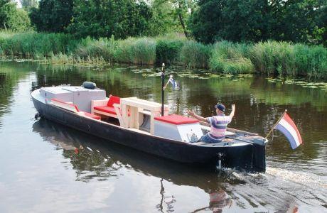 Lounge Praam Dagboot, Partyboot, Sloep Lounge Praam Dagboot, Partyboot te koop bij Jachtbemiddeling Heeresloot B.V.