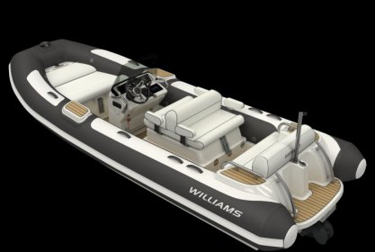 Williams 505 Dieseljet, RIB en opblaasboot for sale by Delta Watersport