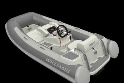 Williams 285 Turbojet, RIB en opblaasboot for sale by Delta Watersport