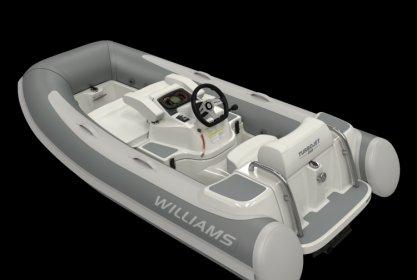 Williams 285 Turbojet, RIB en opblaasboot for sale by Delta Watersport