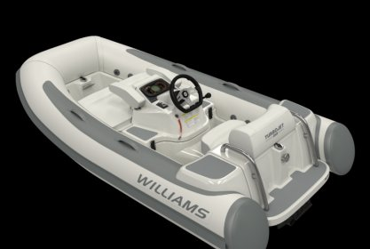 Williams 285 Turbojet Low Profile, RIB en opblaasboot for sale by Delta Watersport