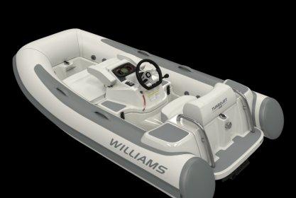 Williams 285 Turbojet Low Profile, RIB en opblaasboot for sale by Delta Watersport