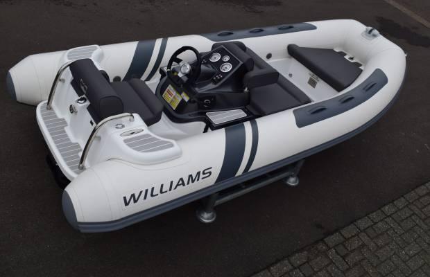 Williams 385 Turbo Jet, RIB en opblaasboot Williams 385 Turbo Jet te koop bij Delta Watersport