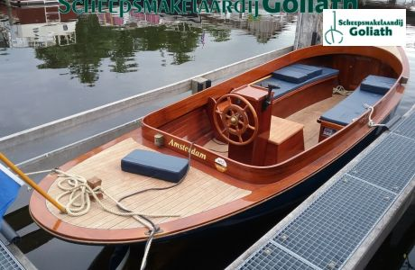 Thames Launch Lounge, Open motorboot en roeiboot Thames Launch Lounge te koop bij Scheepsmakelaardij Goliath