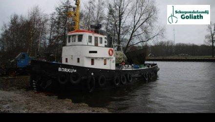 Sleepboot Borkum, Ex-professionele motorboot  for sale by Scheepsmakelaardij Goliath Bergum