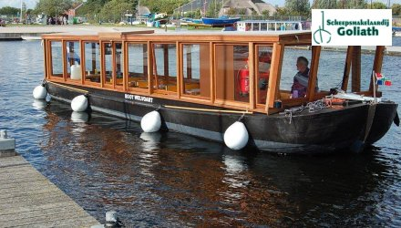 RONDVAARTBOOT Open rondvaartboot, Ex-professionele motorboot  for sale by Scheepsmakelaardij Goliath Groningen