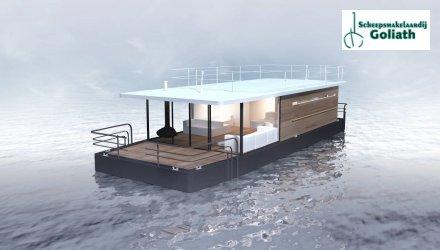 Houseboat Ameland, Woonboot  for sale by Scheepsmakelaardij Goliath Heerenveen