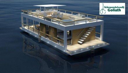 Houseboat The Yacht House 70, Woonboot  for sale by Scheepsmakelaardij Goliath Heerenveen