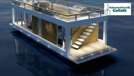 Houseboat The Yacht House 40, Woonboot  for sale by Scheepsmakelaardij Goliath Heerenveen