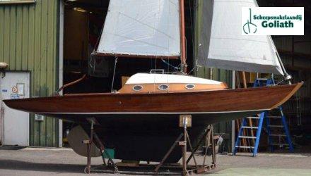 Klassieke zeilboot 7,25m, Klassiek scherp jacht  for sale by Scheepsmakelaardij Goliath Muiderberg