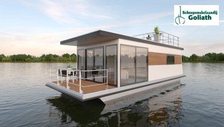 MarinHome 54 Basic Houseboat, Woonboot  for sale by Scheepsmakelaardij Goliath Heerenveen