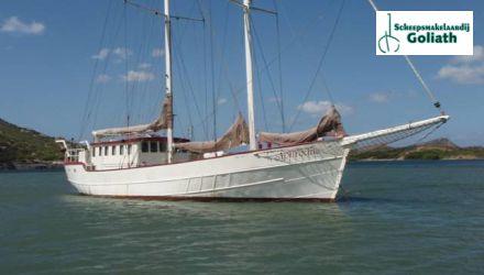Stagzeilschoener Ex-beroepsschepen zeil, Plat- en rondbodem, ex-beroeps zeilend  for sale by Scheepsmakelaardij Goliath - Hoofdkantoor