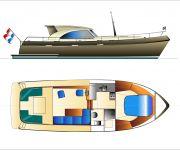 A-Vri-Jon Openkuip 38 Newline. Afbouw En Interieur In Overleg., Motorjacht A-Vri-Jon Openkuip 38 Newline. Afbouw En Interieur In Overleg. te koop bij DSA Yachts