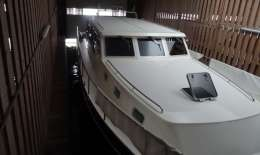 Schiphuis Woudsend, Houseboat Schiphuis Woudsend for sale by Jachtbemiddeling van der Veen - Terherne