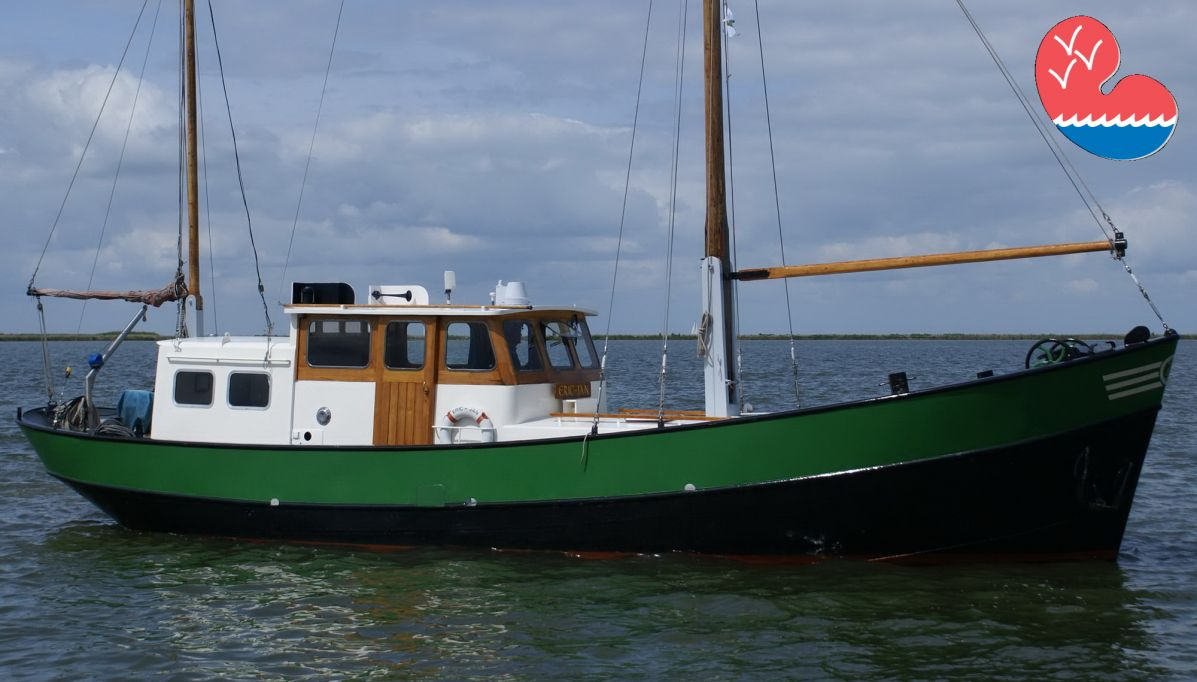 Klassiek/traditioneel motorjacht, Motorviskotter 1380 Jachtuitvoering, in bemiddeling bij Overwijk Jachtbemiddeling