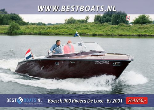 Boesch 900 Riviera De Luxe, Speed- en sportboten