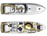 Princess V 58 HT, Bateau à moteur open Princess V 58 HT à vendre par Shipcar Yachts
