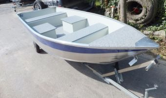 Open boat and rowboat Marine 400 Fish Aluminium Visboot for sale