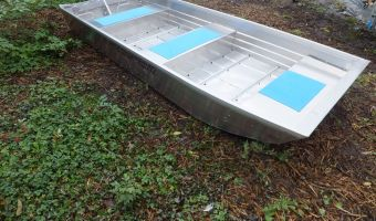 Open boat and rowboat Trident 12 Aluminium Platbodem for sale