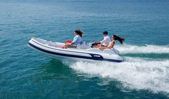 Ribb och uppblåsbar båt Ab Inflatables Tender Abjet 445 till försäljning