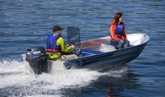 Open motorboot en roeiboot Linder Sportsman 400 eladó