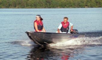 Open motorboot en roeiboot Linder Sportsman 355 eladó