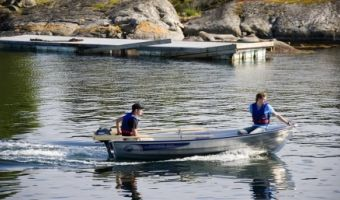 Åben båd og robåd  Linder Fishing 410 til salg