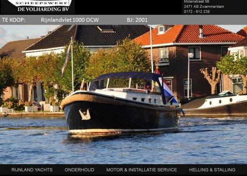 Rijnlandvlet 1000 OCW, Motorjacht