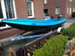Grachtenboot Met Kussenset , Open motorboot en roeiboot Grachtenboot Met Kussenset  for sale by Particuliere verkoper