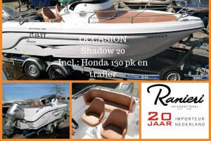 Ranieri Internationaal Shadow 20 Incl. Honda 130 Pk En Trailer, Speed- en sportboten Ranieri Internationaal Shadow 20 Incl. Honda 130 Pk En Trailer te koop bij Slikkendam Watersport