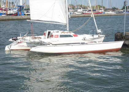 Dragonfly 800 Swingwing Racing, Multihull zeilboot  for sale by Jachtmakelaar Monnickendam