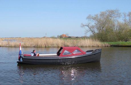 Stoere Stalen Sloep 750 (Visser Design / Kompassloep), Sloep Stoere Stalen Sloep 750 (Visser Design / Kompassloep) te koop bij Jachtmakelaardij Zuidwest Friesland