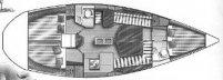 Dufour 39 lift keel